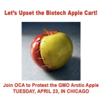 "Organic Consumers Association calls the Arctic Apple a ""Frankeapple"""